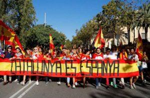 La manifestación por la unidad